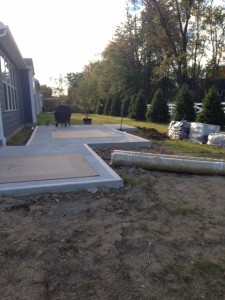 Concrete Spa Pad
